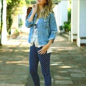 Hollister Womens Blue Print, Green Polka Dot Pants